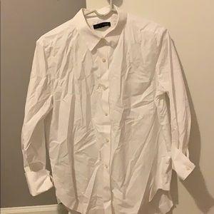Banana Republic women's white dress shirt size med